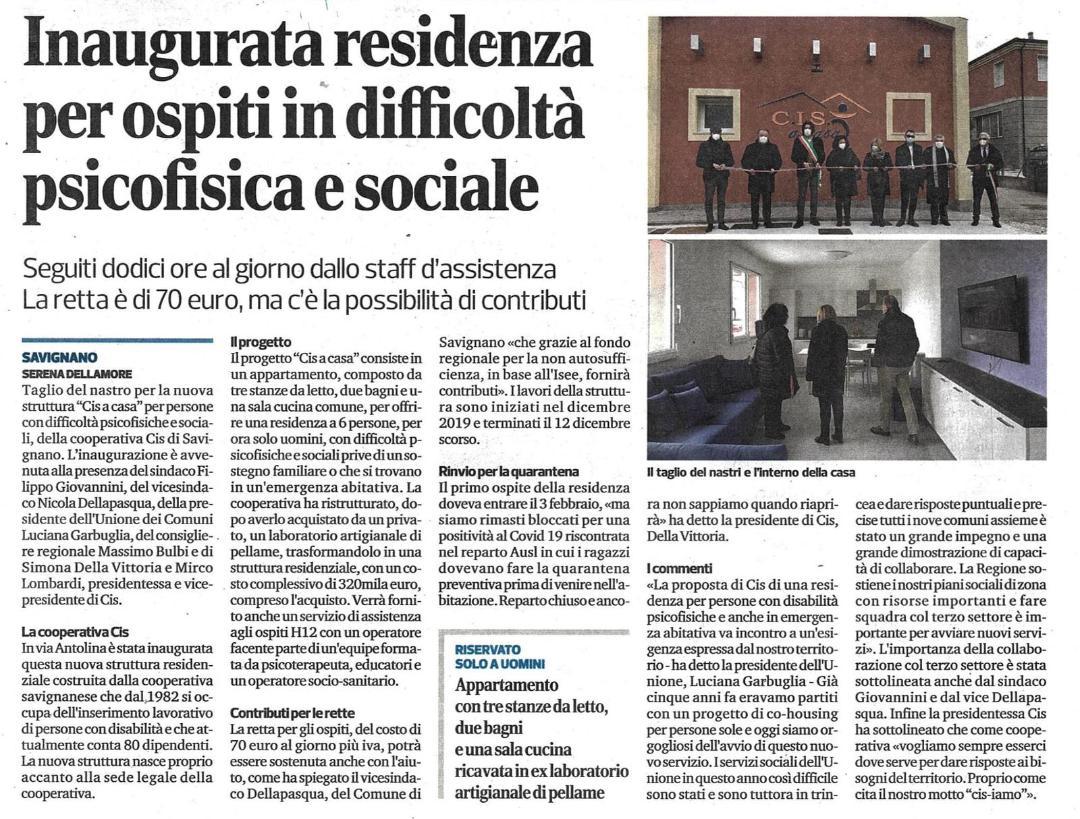 Articolo del Corriere di Romagna